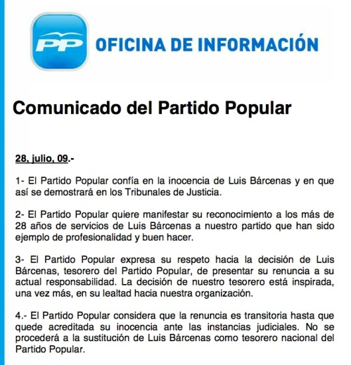 Nota prensa PP