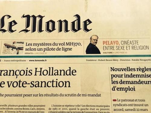 Portada Le Monde