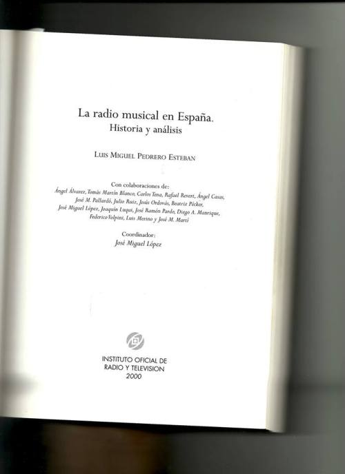 La radio musical en España libro