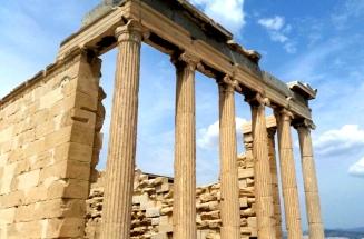 Columnas frontales templo