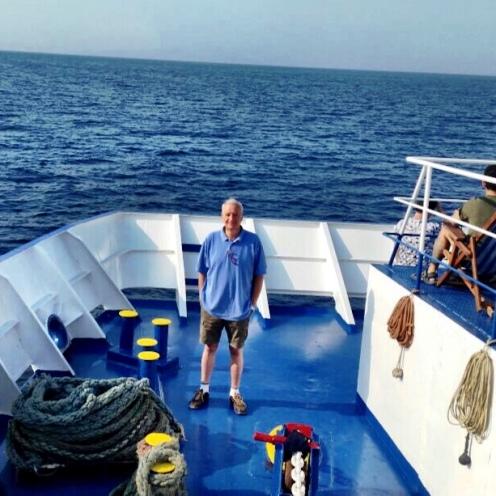 En el barco