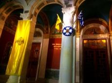 Entrada banderas y banner