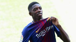 Soccer Football - F.C. Barcelona - Ousmane Dembele Presentation - Barcelona, Spain - August 28, 2017. F.C. Barcelona's new signing Ousmane Dembele shows off club's seal. REUTERS/Albert Gea