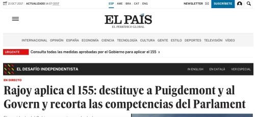 Titular erroneo El País