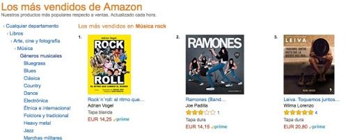 Amazon nº 1 Rock 160618