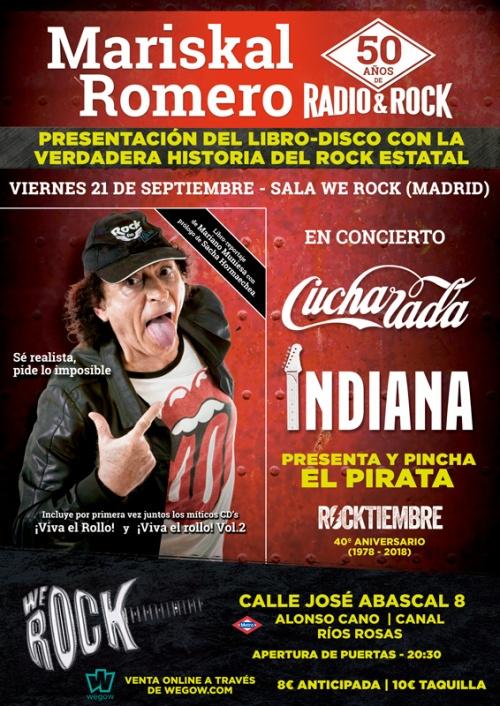 Póster-Mariskal-50-años-radio-y-rock-concierto-libro-Indiana-Cucharada-Madrid