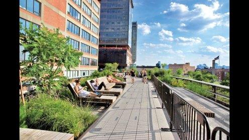 High Line tumbonas