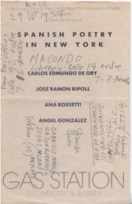 Spanish Poetry in NY Fundacion CEdO