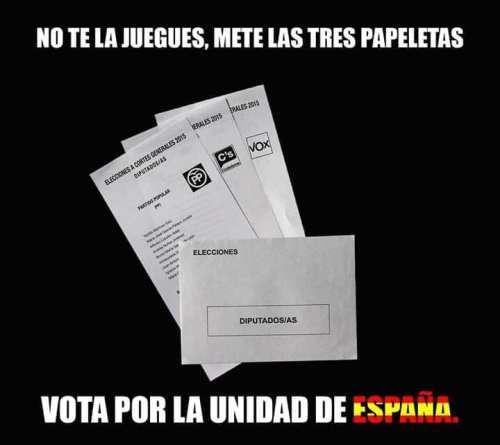 3 papeletas
