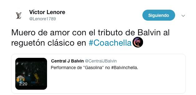 VL tweet J Balvin