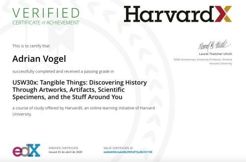 Certificado curso Harvard
