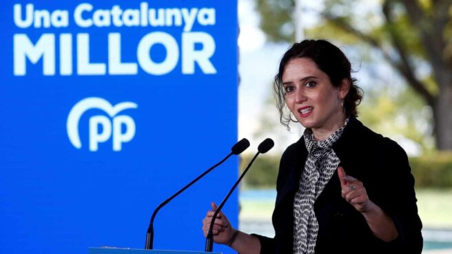 Díaz Ayuso participa en un acto electoral del PPC en Barcelona