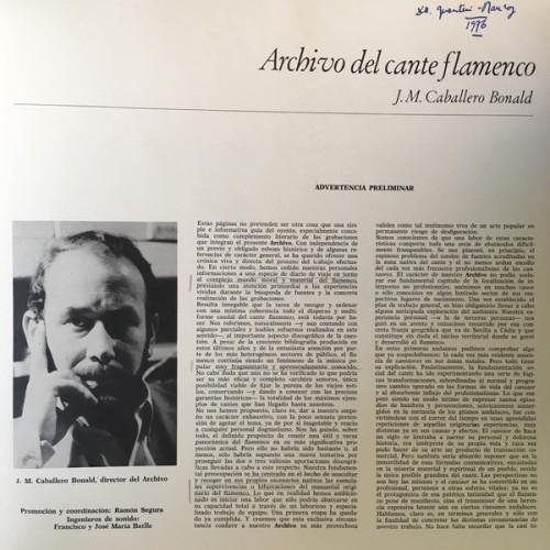 Archivo cante flamenco